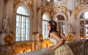 Picture girl, dress, hall, Eugene Pyatnitskaya, Ekaterina Romanenko