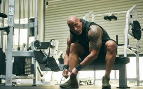 Picture look, pose, tattoo, tattoo, actor, muscle, muscle, wrestler, Dwayne Johnson, tattoo, Dwayne Johnson, athlete, bodybuilder, …