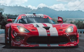 Picture Microsoft, Dodge, Viper, SRT, Forza Horizon 3, game art, by Wallpy