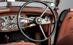 Picture Key, Salon, Convertible, Classic, The wheel, Lancia, Chrome, Classic car, 1936, Lancia Astura Cabriolet, Type …