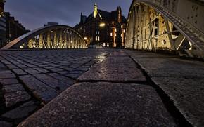 Picture Bridge, Hamburg, At night