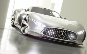 Picture Concept, Auto, Japan, Machine, Mercedes, Benz, Lights, Vision, Race, Mercedes - Benz, Gran Turismo Sport, …