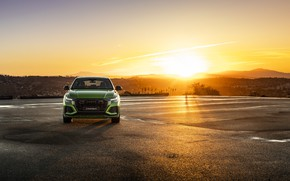 Picture sunset, Audi, front view, crossover, 2020, RS Q8