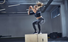 Picture blonde, female, workout