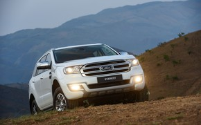 Picture light, mountains, Ford, Everest, 2015, XLT