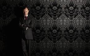 Picture look, wall, Wallpaper, Sherlock, Mark Gatiss, Mycroft Holmes, Sherlock BBC, Sherlock Holmes, Sherlock (TV series)