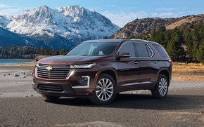 Picture mountains, Chevrolet, SUV, Traverse, 2021, First