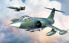 Picture fighter, Air force, Luftwaffe, F-104G Starfighter, Lockheed Corporation