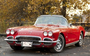 Picture Corvette, Chevrolet, Red, 1962, Old car