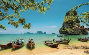 Picture sea, boats, Thailand, Phuket