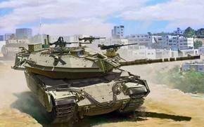 Picture art, The IDF, Gal Batash, Israel Main Battle Tank, Magach 6B