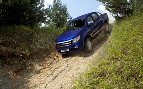 Picture blue, the descent, Ford, pickup, Ranger