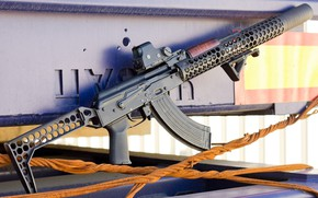 Picture weapons, gun, weapon, custom, Kalashnikov, AK 47, assault rifle, assault Rifle, AK 47, Kalashnikov, AKM, …