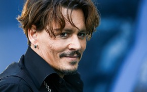 Picture smile, actor, earring, Johnny Depp