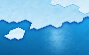 Picture Blue, Line, Blue, Linux, Ice, Abstraction, KDE, Bright Wallpaper, Высокое качество, KDE Plasma