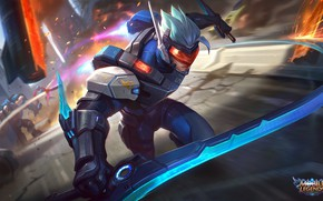 Picture movement, speed, armor, guy, cyborg, Mobile Legends Bang Bang