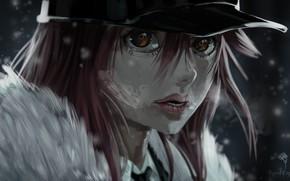 Picture look, girl, cap
