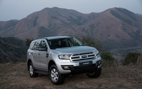 Picture Ford, Everest, 4WD, 2015, mountains in the background, XLS