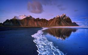 Picture sea, mountains, shore
