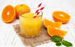 Picture glass, oranges, juice, tube, fresh, orange, Olena Rudo