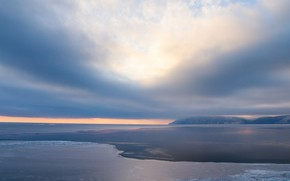 Picture ice, winter, clouds, Baikal, ice, winter, lake, Baikal, Evgeny Makarov