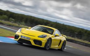 Picture Porsche, Wheel, Speed, Cayman, Track, GT4, 2019, Porsche 718 (982) Cayman GT4