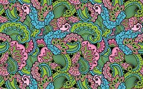 Wallpaper background, texture, Paisley