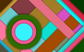 Picture circles, figure, layers