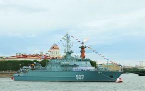 Picture ship, Neva, Parade, Alexander Obukhov, mine