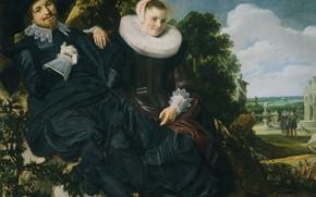 Picture oil, picture, canvas, Frans Hals, Wedding Portrait, 1622, Frans Hals