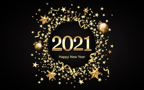 Picture stars, background, holiday, Christmas, New year, New Year, 2021
