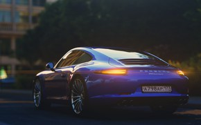 Picture Auto, Blue, 911, Porsche, Machine, Car, Render, Rendering, Rendering, Porsche 911 Carrera, Transport & Vehicles, …