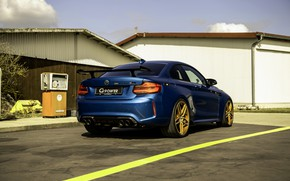 Picture blue, BMW, G-Power, ass, F87, M2, 2019, M2 Competition, G2M Bi-Turbo