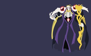Picture skeleton, Overlord, cloak, The Lord