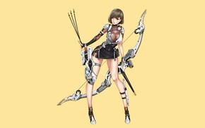 Picture Girl, Sexy, Art, Minimalism, Characters, Ren Wei Pan, Archer09, Cyborg Hunter