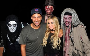 Picture girl, monsters, Halloween, male, Carmen Electra