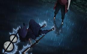 Picture Water, Rain, naruto, shippuuden, Madara Uchiha, Hashirama Senju