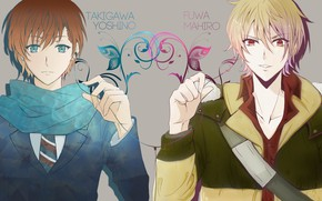 Picture background, patterns, guys, two, Zetsuen No Tempest