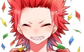 Picture smile, fangs, guy, My hero Academy, Boku No Hero Academy