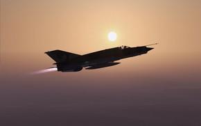 Picture MiG-21bis, Sunset, Frontline fighter, KB MiG
