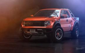 Picture Ford, Auto, Machine, SUV, Rendering, F-150, Orange Tulip, Transport & Vehicles, by Eric Obregón, Eric …