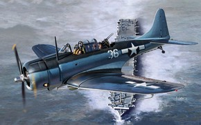 Picture USA, Bomber, The carrier, US Navy, Dive bomber, SBD Dauntless, Deck-based aircraft, SBD-5