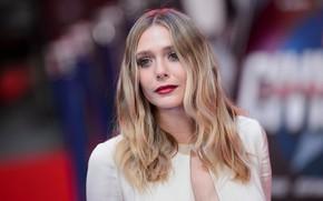 Picture look, pose, makeup, actress, photoshoot, hair, Elizabeth Olsen, Elizabeth Olsen