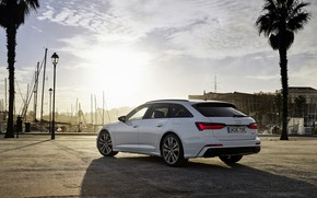 Picture white, Audi, shadow, hybrid, universal, Audi A6, 2020, A6, A6 Avant, 55 TFSI and four