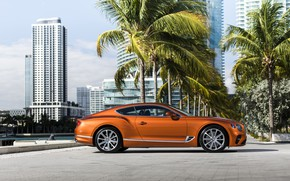 Picture coupe, Bentley, 2019, Continental GT V8, at the pier