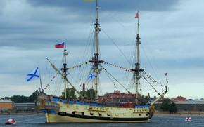 Picture ship, Neva, Poltava, sailing, replica