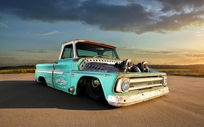Picture Chevrolet, Truck, Custom, C10