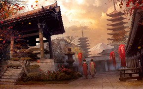 Picture Japan, Vladimir Manyukhin, concept fan art, Assassin s creed - Japan
