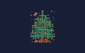 Wallpaper Minimalism, Mario, New year, Tree, Art, Tree, Tree, New Year, Super Mario, Pipe, Djkopet, By ...
