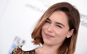 Picture look, pose, smile, actress, brunette, photoshoot, smile, view, hair, brunette, Emilia Clarke, pose, actress, Emilia …
